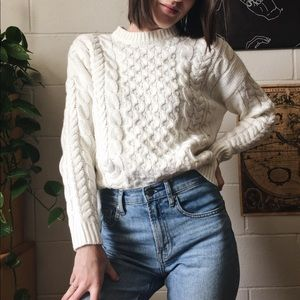 Chunky white sweater